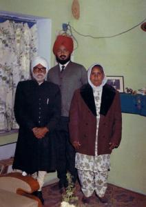 1.3   Prof. Piara Singh Gill  Ravinder Ravi &  Charanjit Kaur - Jalandhar, India - December, 1969 - Pic. by Jang Bahadur