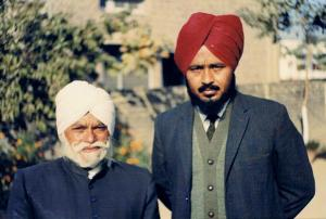 1.7  Prof. Piara Singh Gill with elder son Ravinder Ravi  -Jalandhar, India - December, 1969 - Pic. by Jang Bahadur
