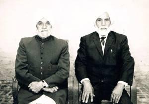 Sons of Jawala Singh - Prof. Piara Singh Gill & Karam Singh Gill - Jagat Pur, India - 1976
