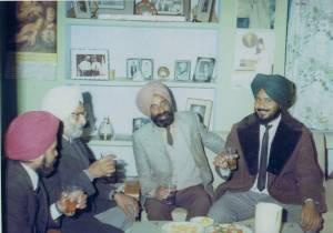10, Raghbir Singh Sirjana, Dr., Mohan Singh, Sant Singh Sekhon & Ravinder Ravi - Jalandhar, India - December, 1969 -