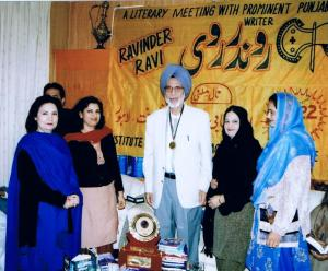 5. Ravinder Ravi receiving Gold Medal for Drama & Theatre - Lahore, Pakistan, January 22, 2006