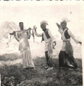 Lahori Ram Shaunqi, Ravinder Ravi and Darbara Singh - Jagat Pur, India - 1956