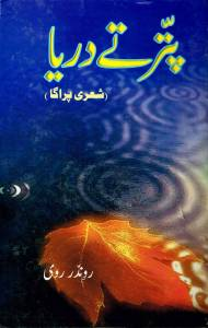 16. a PATTER TE DARYA -A collection of Ravinder Ravi's poetry in Shah Mukhi -Lahore, Pakistan - 2005